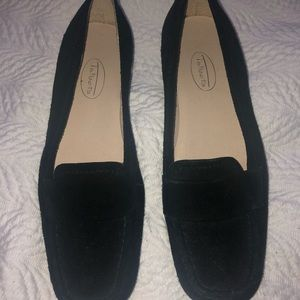 Talbots black suede loafers